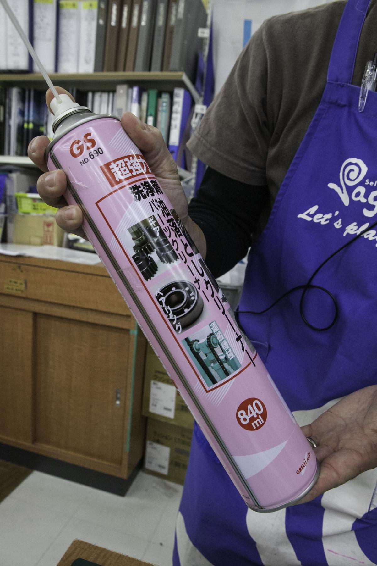 ベアリングの掃除には油落とし用のパーツクリーナーがあると便利